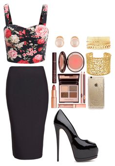 """""""Untitled #169"""" by harmonizer4ever on Polyvore featuring Roland Mouret, Charlotte Tilbury, Kenneth Jay Lane, Charlotte Russe, Brooks Brothers and Rifle Paper Co"""