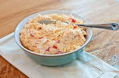 Southern Pimento Cheese - This is my grandmother's recipe that I watched her make for years! It is so amazing and delicious - My family requests it all the time! from addapinch.com
