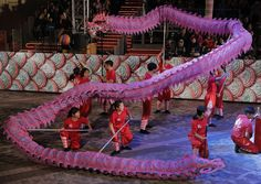 Performers show a dragon dance in a night parade to celebrate Chinese New Year in Hong Kong, Saturday, Jan. The Lunar New Year this year marks the Year of the Rooster in the Chinese calendar. Chinese Calendar, Chinese Festival, Dragon Dance, Pre Production, New Year Celebration, Lunar New, Chinese New Year, Hong Kong, Rooster
