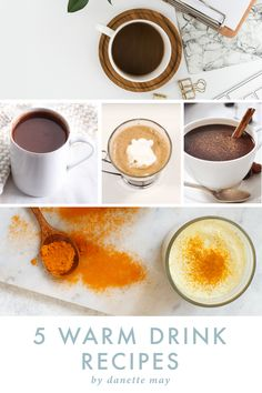 5 Healthy Drinks to Warm Your Bones this Winter Healthy Holiday Recipes, Healthy Desserts, Healthy Drinks, Healthy Tips, Fall Recipes, Healthy Food, Golden Milk Tea, Toddy Recipe, Danette May