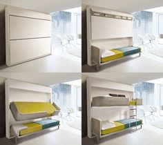 Bunk Wall Bed | #design #furniture #modern #bed #home #bedroom