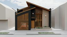 Minimal House Design, Bungalow House Design, House Front Design, Minimal Home, Modern Small House Design, Modern Architecture House, Architecture Design, Modern Home Exteriors, Residential Architecture