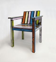 This is a limited edition chair by designer Sebastian Wrong, but I think it can be DIY project.