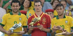 Fernando Torres won Golden Shoes on Confederation Cup 2013 with 5 goals. Silver shoes Fred (5 goals) and Bronze shoes Neymar (4 goals)