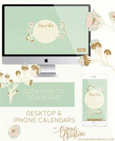 december desktop + smartphone calendars