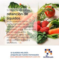 Verduras para evitar la retención de líquidos y el estreñimiento