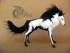 """Sold Auction Adoption! ---> The only one of its kind, this unique, hand sculpted, fully poseable, fantasy """"Dream Walker Wolf"""" is a rare piece of artwork being offered up for bid! It's fully posa..."""
