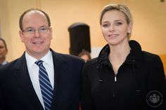 Prince Albert of Monaco and Princess Charlene of Monaco presided over the World Day of Sport for Development and Peace.