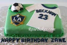LA Galaxy Soccer Cak