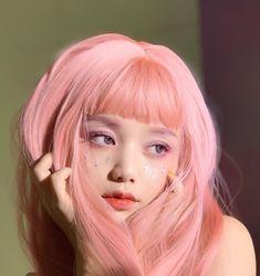 Aesthetic Hair, Aesthetic Makeup, Hair Reference, Foto Art, Dye My Hair, Grunge Hair, Ulzzang Girl, Ulzzang Couple, Pink Hair