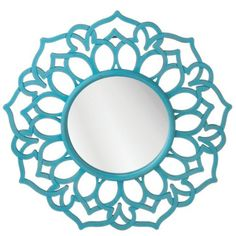 Disney Frozen room decor for kids - just add a turquoise colored mirror like this one. Cool Bedrooms For Boys, Awesome Bedrooms, Girls Bedroom, Frozen Room Decor, Frozen Girls Room, Aqua Blue, Light Turquoise, Round Wall Mirror, Wall Mirrors