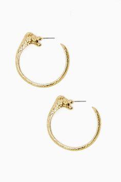 Lioness Hoop Earrings $12.60 (30% off)