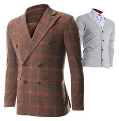 """Orange blazer for men"" by flatseven on Polyvore"