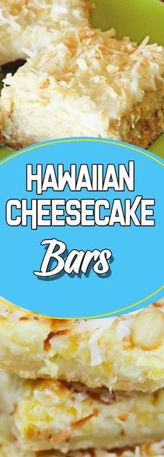 Hawaiian Cheesecake Bars #dessert #dessertrecipes #recipeideas #homemade #desserttable #appetizer