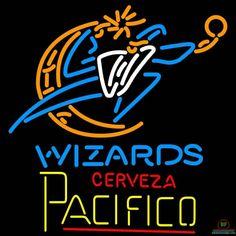 Cerveza Pacifico Washington Wizards Neon Sign NBA Teams Neon Light