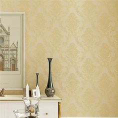 3D Embossed Luxury Classic Wall Papers
