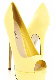 yellow peep toe