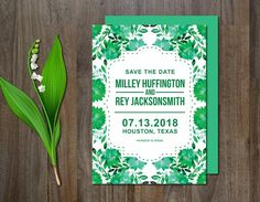 Save the Date watercolor flower by aticnomar on @creativemarket