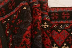 Afghan Baluch Red Runner 10 to 12 ft Wool Carpet 23566 Wool Carpet, Small Rugs, Carpet Runner, Alexander Mcqueen Scarf, Area Rugs, Stockings, Runners, Red, Culture