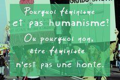 Pourquoi dit-on féminisme et pas humanisme ? Dit, Graphic, Neon Signs
