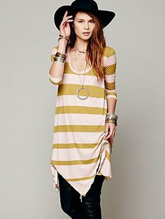 Free People Stripes And Trapeze Dress, $49.99, XS