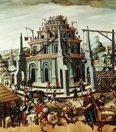 The Tower of Babel paint by an Unknown German artist - Nuremberg:Germanisches Nationalmuseum (Germany)