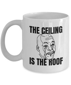 The Ceiling Is Roof Mug Crying Meme Hy Male Tears Gift Tear Drop Coffee Cup Personalise