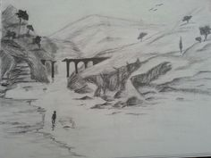 My latest drawing. it is for my father. thank you dad. It is called :rocky bridge. Thank You Dad, My Father, My Drawings, Bridge, Painting, Art, Painting Art, Paintings, Kunst