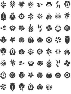 Kalocsai Flowers Dingbat Specimen