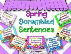 bundle on spring scrambled sentences... love it!