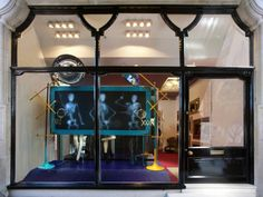 A Christian Louboutin window in London highlights the X-ray theme in shops this autumn and winter.