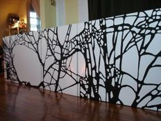 Trees. denitza  #trees #white #art #paintings