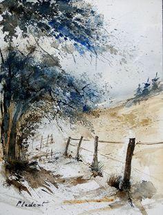 "Pol Ledent; Watercolor, 2013, Painting ""watercolor 061106"""