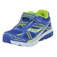 Saucony Kids Boy's Ride 7 (Toddler/Little Kid) Blue/Citron Sneaker 5 Toddler M