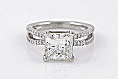 split shank princess cut engagement rings and princess