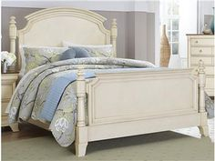 Sophistication merges with elegant lines and classic shapes in the Inglewood II Collection. The boldly designed lines of the traditional breakfront posts of the panel bed lend an air of casual elegance.