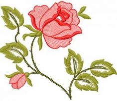 Roses free machine embroidery design. Machine embroidery design. www.embroideres.com