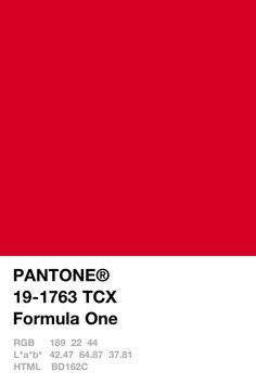 formula one aesthetic Pantone, Red colour palette, Pantone red red color pantone - Red Things Red Colour Palette, Colour Schemes, Red Color, Pantone Colour Palettes, Pantone Color, Pantone Blue, Rouge Pantone, Pantone Swatches, Colour Swatches