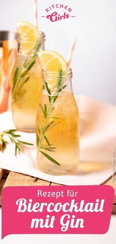 Rezept für Biercocktail mit Gin #oktoberfest #wiesn #cocktails #happhour #rezepte #gin