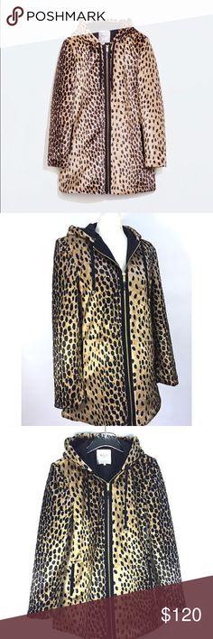 Zara Trafaluc Trench Coat Zara trafaluc women's trench faux fur leopard zippered coat.Size small. NWT Zara Jackets & Coats Trench Coats
