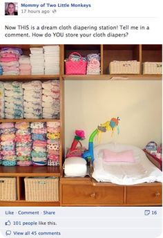 Cloth nappy organization-Looks like an old entertainment unit!