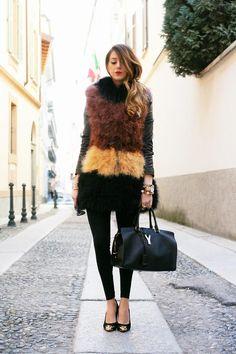 Shop this look on Kaleidoscope (vest, purse, pumps)  http://kalei.do/WduS9qlnWuScOioP