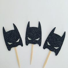 Modern day batman cupcake toppers