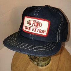 a50e7ba667f53 Vintage DUPONT Tovan Extra USA DENIM 70s 80s Trucker Hat Cap Snapback PATCH  Rare