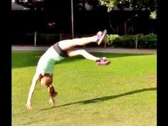 How To Do A Front Handspring With Coach Meggin! (Professional Gymnastics Coach)