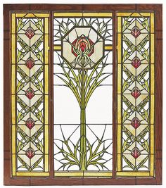 George Washington Maher designed the ThistleWindow for the Patten House.
