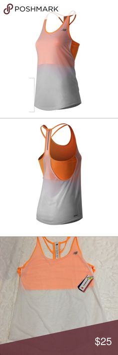 New balance ice hybrid racerback running tank NWT racerback running tank size XL. ❤️ Keep your cool with the women's NB ICE Hybrid Tank, featuring New Balance's sweat-activated cooling technology. A roomy tank is layered over a body-hugging crop for breezy comfort when your run or the weather heats up. Plus, a convenient media cord tunnel holds your headphones in place and out of the way during your run.  (NWT) New Balance Tops Tank Tops