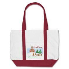 Teacher Christmas Bag - Gingerbread Scene