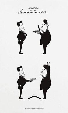 Metáfora de la democracia .