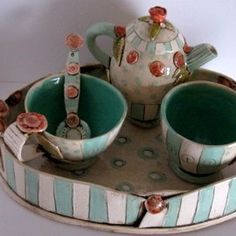 Hand Made Decorative Ceramics von WendyJohnsonCeramics Thankyou for visiting my Etsy Shop. I sell a range of handmade ceramic items available in a selection of colours and design. All work is Pottery Teapots, Ceramic Teapots, Pottery Mugs, Ceramic Plates, Ceramic Wall Art, Ceramic Decor, Tea Display, Teapots Unique, Stoneware Dinnerware